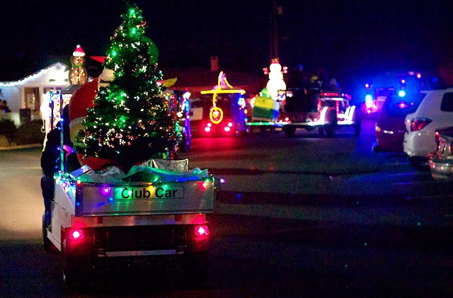 The Estates Golf Car Christmas Lights Parade 2014 December 4th